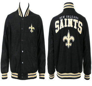 New Orleans Saints Black Jacket FG
