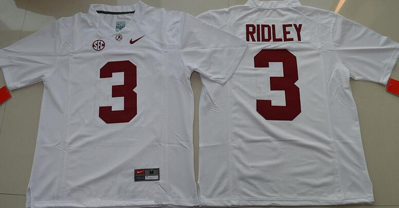 Men's Alabama Crimson Tide #3 Calvin Ridley White Limited Stitched College Football Nike NCAA Jersey