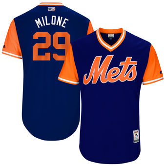 Men's New York Mets Tommy Milone Milone Majestic Royal 2017 Players Weekend Authentic Jersey