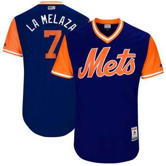 Men's New York Mets Jose Reyes La Melaza Majestic Royal 2017 Players Weekend Authentic Jersey