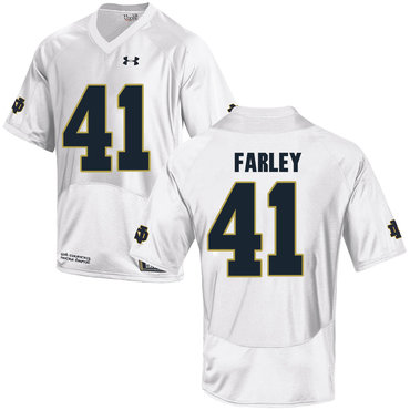 Notre Dame Fighting Irish 41 Matthias Farley White College Football Jersey