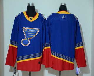 Men's St. Louis Blues Blank Blue Adidas Stitched NHL Throwback Jersey