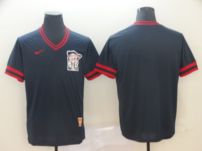 Men's Minnesota Twins Blank Navy Throwback Jersey