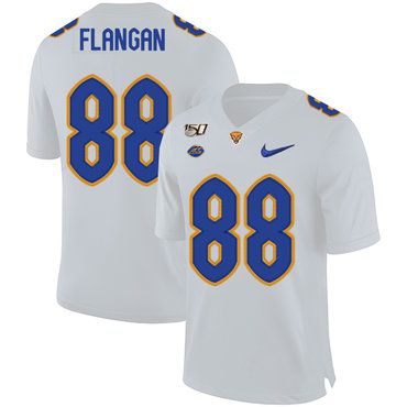 Pittsburgh Panthers 88 Matt Flanagan White 150th Anniversary Patch Nike College Football Jersey