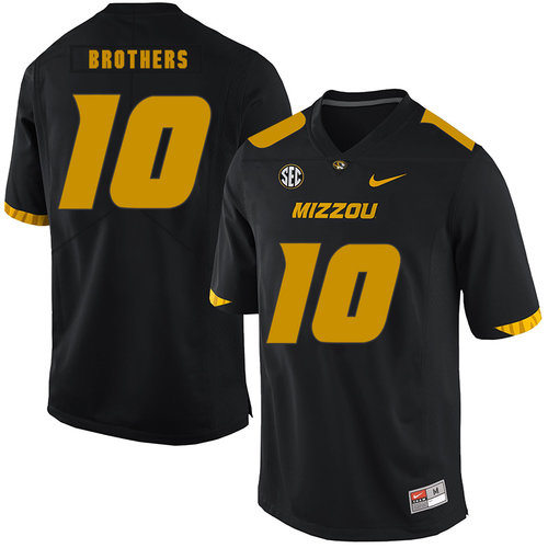 Missouri Tigers 10 Kentrell Brothers Black Nike College Football Jersey