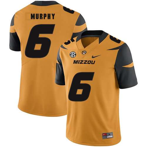 Missouri Tigers 6 Marcus Murphy III Gold Nike College Football Jersey