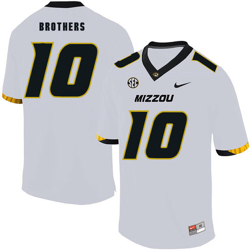 Missouri Tigers 10 Kentrell Brothers White Nike College Football Jersey