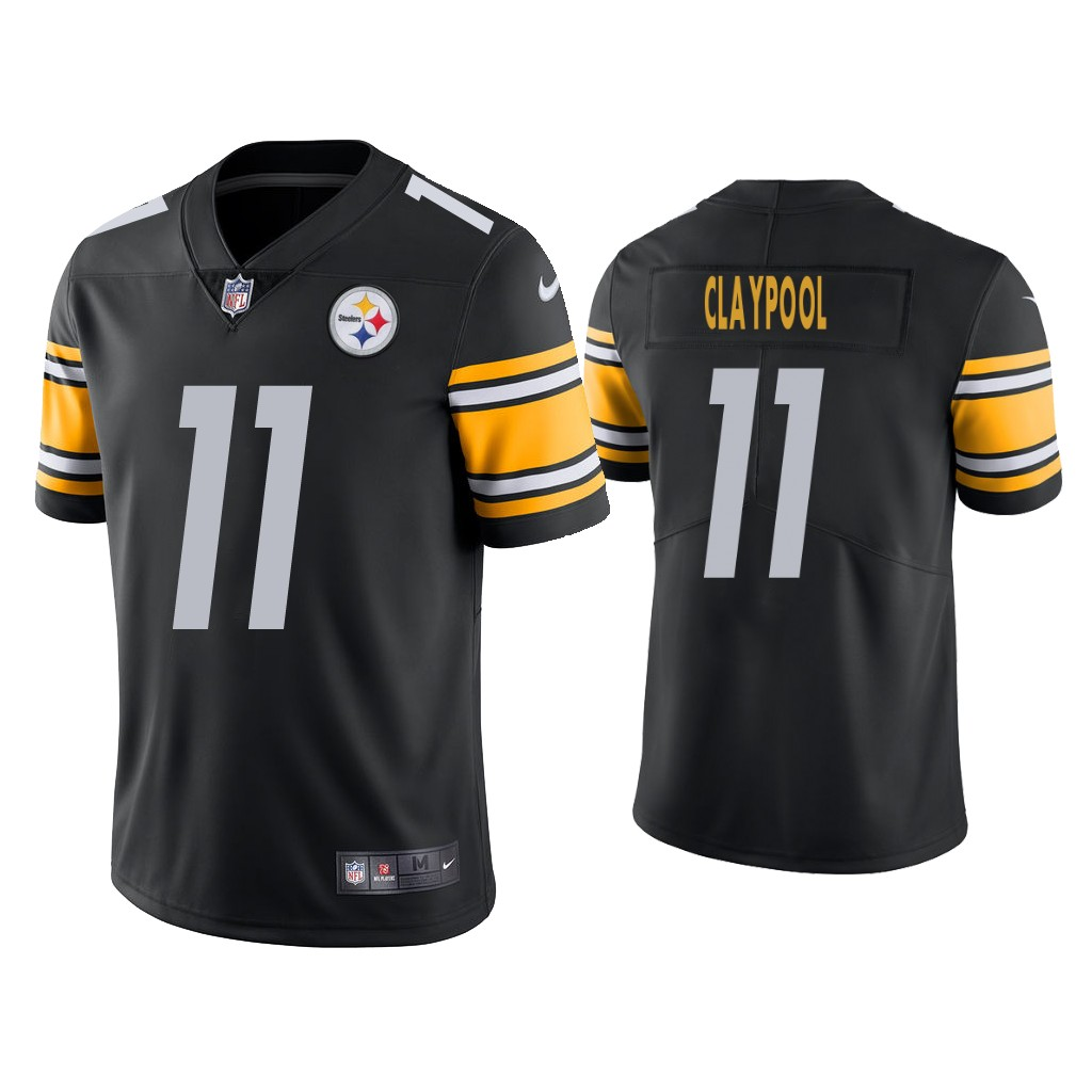 Men's #11 Chase Claypool Steelers Men's 2020 NFL Draft Black Vapor Limited Jersey
