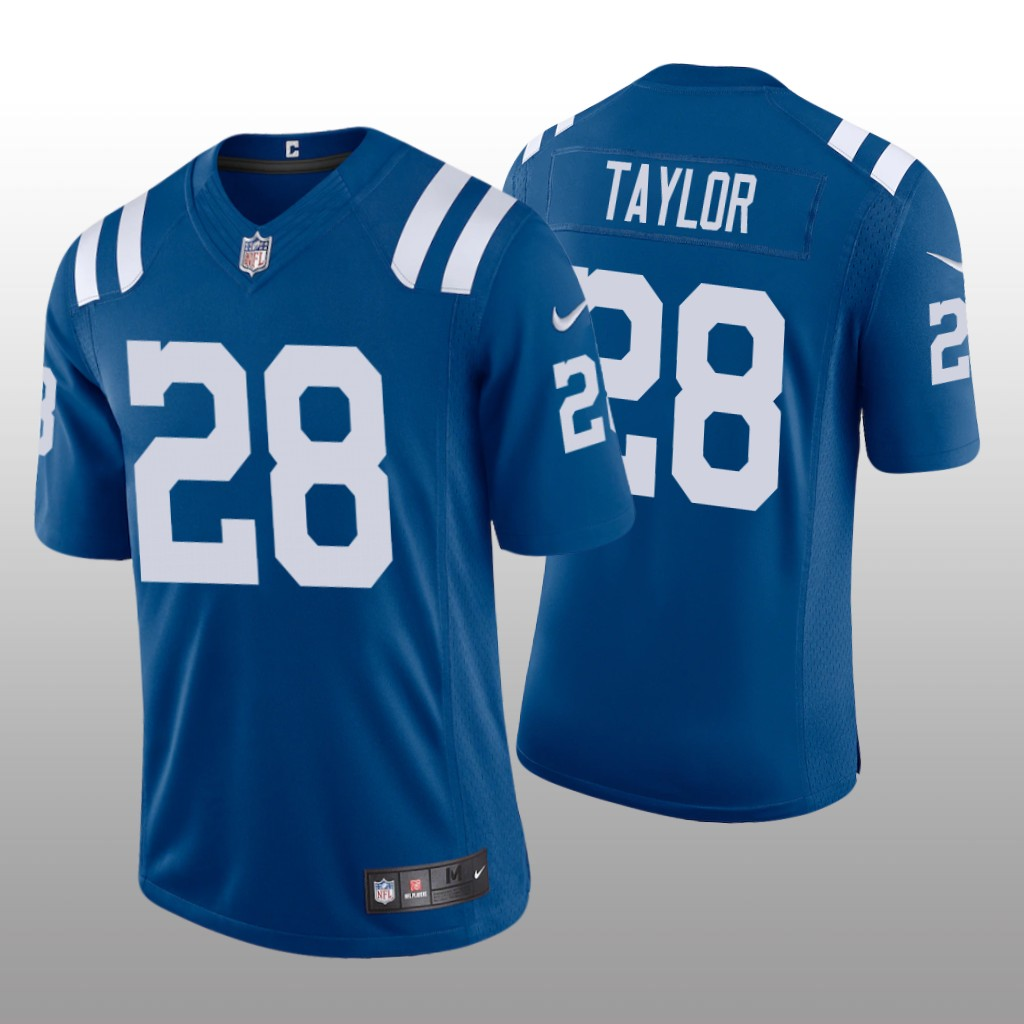 Men's Colts 2020 NFL Draft Royal Vapor Limited #28 Jonathan Taylor Jersey