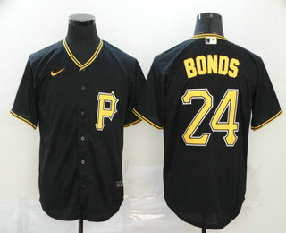 Men's Pittsburgh Pirates #24 Barry Bonds Black Stitched MLB Cool Base Nike Jersey
