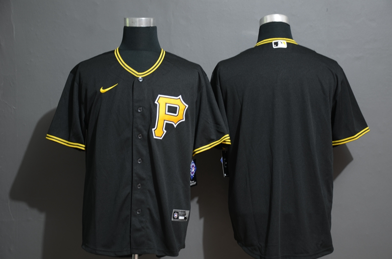 Men's Pittsburgh Pirates Blank Black Stitched MLB Cool Base Nike Jersey