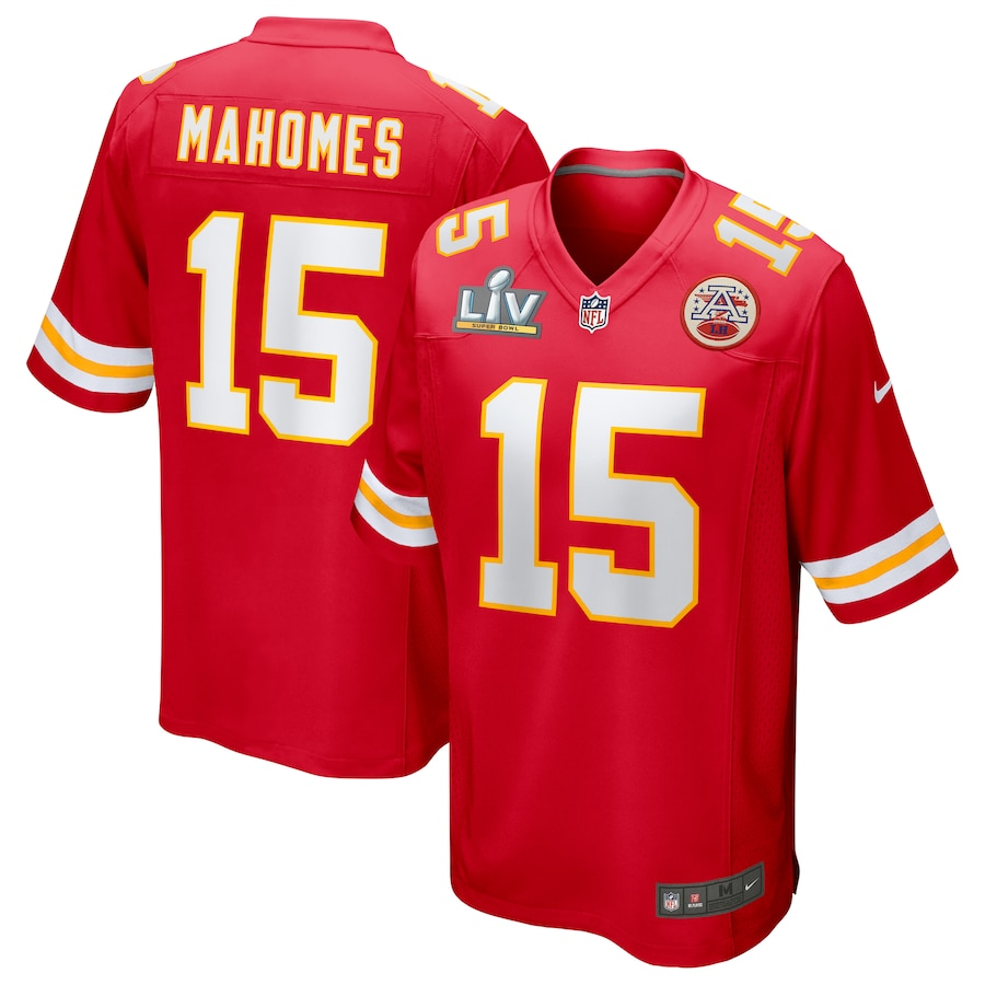 Patrick Mahomes Kansas City Chiefs #15 Nike 2021 Super Bowl LV Bound Game Jersey - Red