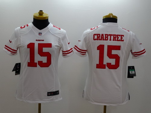 Nike San Francisco 49ers  15 Michael Crabtree White Limited Womens Jersey ccf02a633