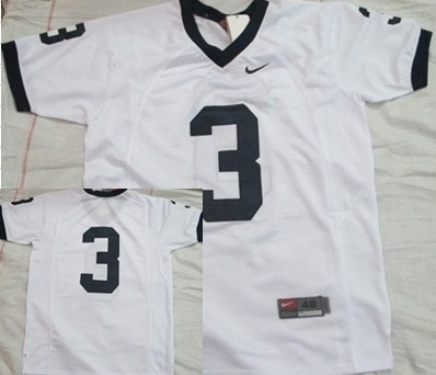 Penn State Nittany Lions #3 White Jersey