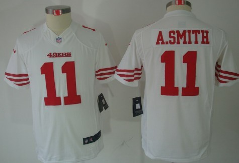 Nike San Francisco 49ers  11 Alex Smith Red Limited Kids Jersey on ... 31c6ef82a