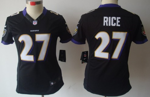 Nike Baltimore Ravens  27 Ray Rice Black Limited Womens Jersey on ... 25f009596