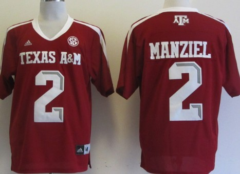 Texas A&M Aggies #2 Johnny Manziel Red Jersey