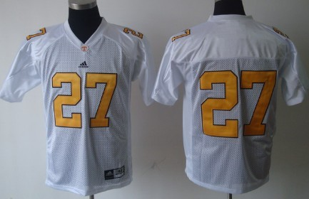 Tennessee Volunteers #27 Arian Foster White Jersey