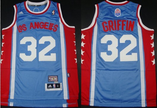 6ce29d2cb Los Angeles Clippers  32 Blake Griffin ABA Hardwood Classic Swingman Blue  Jersey
