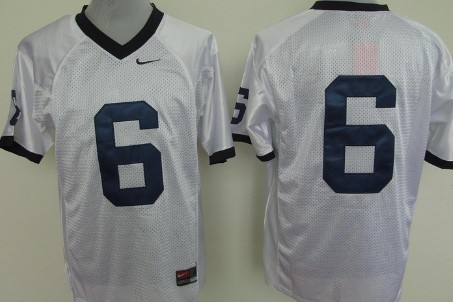 Penn State Nittany Lions #6 White Jersey