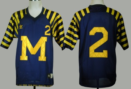 40443e72a Michigan Wolverines  2 Charles Woodson Navy Blue Under The Lights Jersey