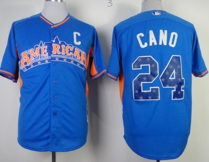 New York Yankees #24 Robinson Cano 2013 All-Star Blue Jersey