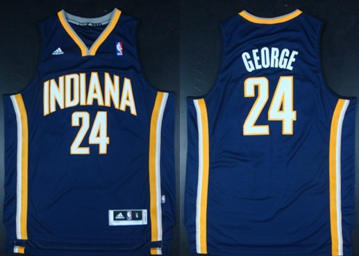 Indiana Pacers  24 Paul George Revolution 30 Swingman Navy Blue Jersey 5fbb5a53c