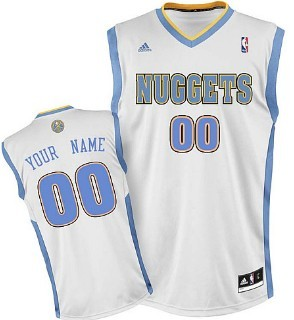 Kids Denver Nuggets Customized White Jersey