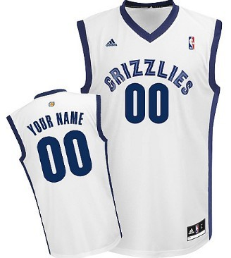 Mens Memphis Grizzlies Customized White Jersey