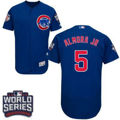 Cubs #5 Albert Almora Jr. Blue Flexbase Authentic Collection 2016 World Series Bound Stitched MLB Jersey