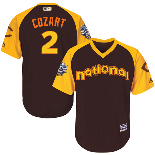 Zack Cozart Brown 2016 MLB All-Star Jersey - Men's National League Cincinnati Reds #2 Cool Base Game Collection