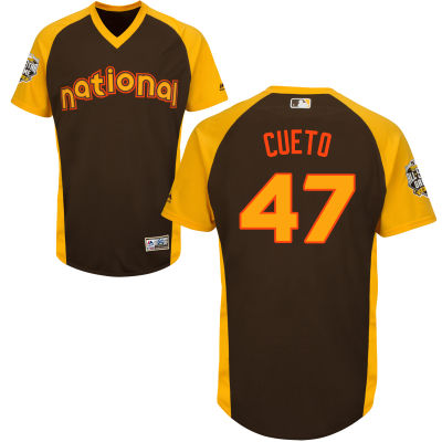 Men's National League San Francisco Giants #47 Johnny Cueto Brown 2016 MLB All-Star Cool Base Collection Jersey