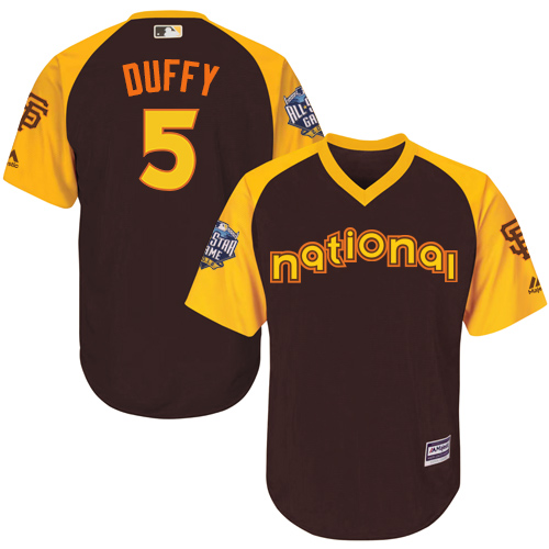 Matt Duffy Brown 2016 MLB All-Star Jersey - Men's National League San Francisco Giants #5 Cool Base Game Collection