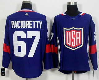 Men's Team USA #67 Max Pacioretty Navy Blue 2016 World Cup of Hockey Game Jersey