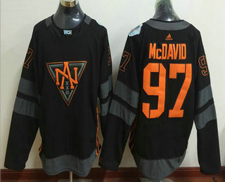 Men's North America Hockey #97 Connor McDavid Black 2016 World Cup of Hockey Stitched WCH Game Jersey