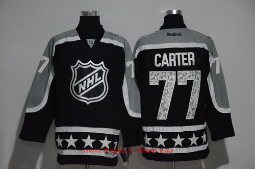 Men's Pacific Division Los Angeles Kings #77 Jeff Carter Reebok Black 2017 NHL All-Star Stitched Ice Hockey Jersey