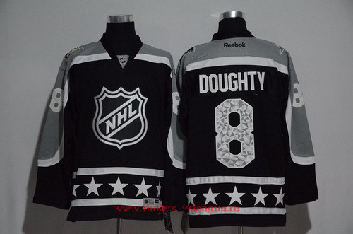 Men's Pacific Division Los Angeles Kings #8 Drew Doughty Reebok Black 2017 NHL All-Star Stitched Ice Hockey Jersey