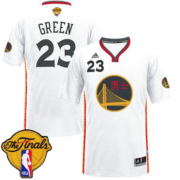 Men's Warriors #23 Draymond Green White 2017 Chinese New Year The Finals Patch Stitched NBA Jersey