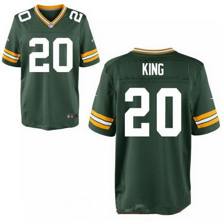 Men's 2017 NFL Draft Green Bay Packers #20 Kevin King Green Team Color Stitched NFL Nike Elite Jersey
