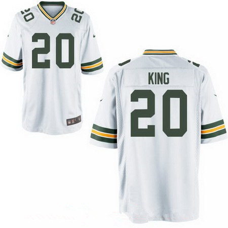 Men's 2017 NFL Draft Green Bay Packers #20 Kevin King White Road Stitched NFL Nike Elite Jersey