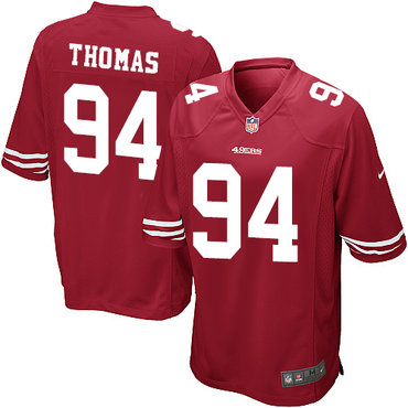 Youth Nike 49ers #94 Solomon Thomas Red Team Color Stitched NFL Elite Jersey