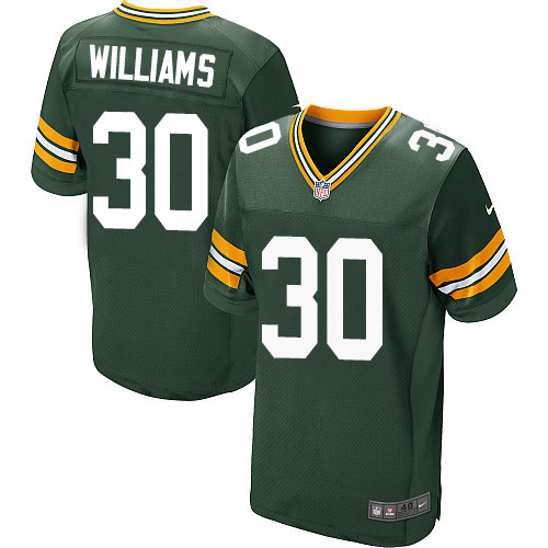 Nike Green Bay Packers #30 Jamaal Williams Green Team Color Men's Stitched NFL Elite Jersey