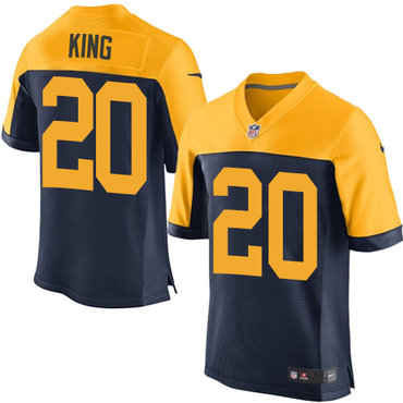 Nike Green Bay Packers #20 Kevin King Navy Blue Alternate Men's Stitched NFL New Elite Jersey