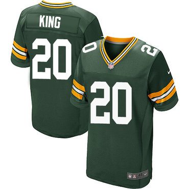 Nike Green Bay Packers #20 Kevin King Green Team Color Men's Stitched NFL Elite Jersey