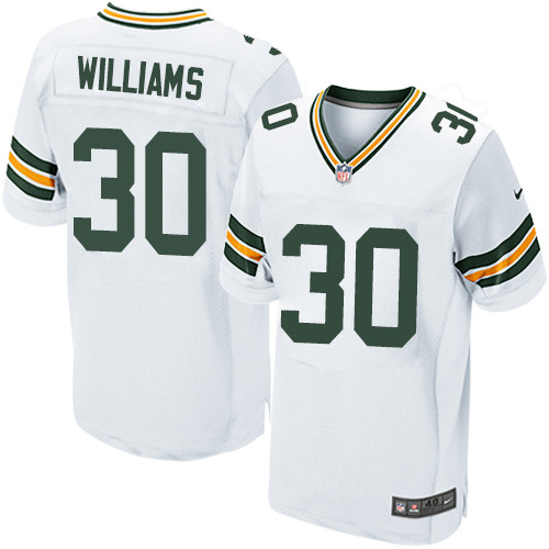 Nike Green Bay Packers #30 Jamaal Williams White Men's Stitched NFL Elite Jersey