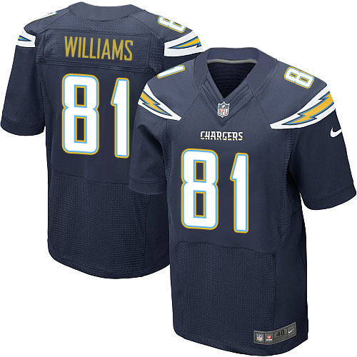 Nike Los Angeles Chargers #81 Mike Williams Navy Blue Team Color Men's Stitched NFL New Elite Jersey
