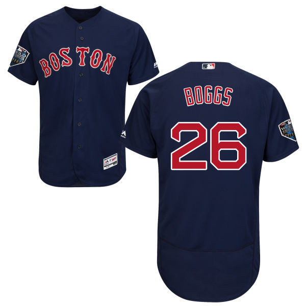 Red Sox #26 Wade Boggs Navy Blue Flexbase Authentic Collection 2018 World Series Stitched MLB Jersey