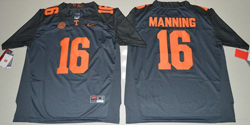 Tennessee Vols #16 Peyton Manning Grey 2016 Stitched NCAA Jersey