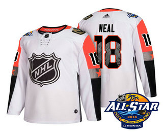 Men's Vegas Golden Knights #18 James Neal White 2018 NHL All-Star Stitched Ice Hockey Jersey