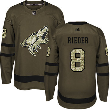 Adidas Coyotes #8 Tobias Rieder Green Salute to Service Stitched NHL Jersey